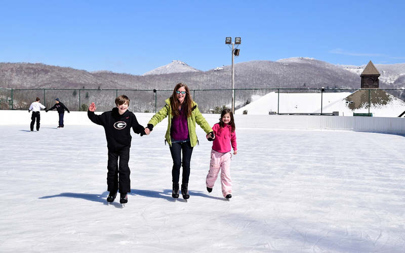 Ice Skating Sugar Mountain