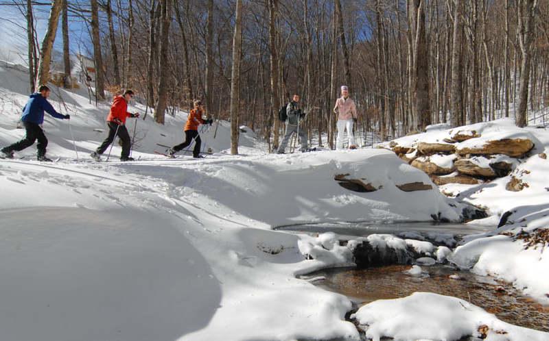 Snowshoeing on Sugar Mountain NC