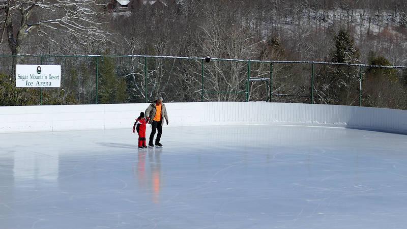 Ice Skating Sugar Mtn