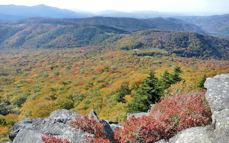 Sugar Mountain Summit Fall View