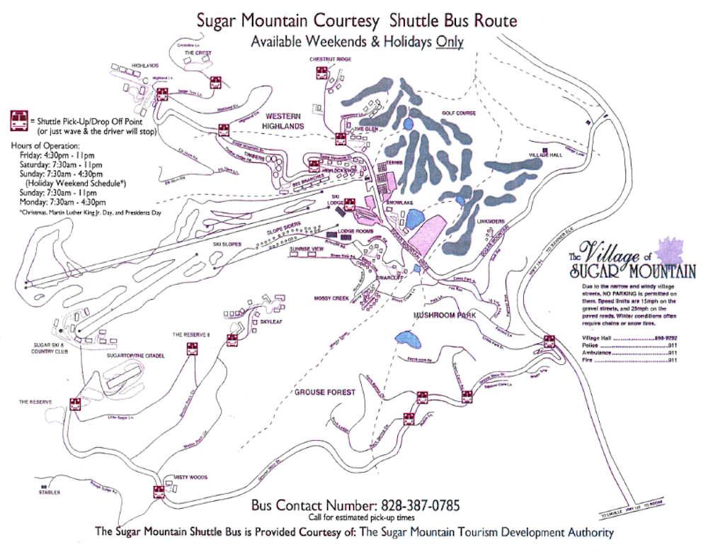 Sugar Bus Map