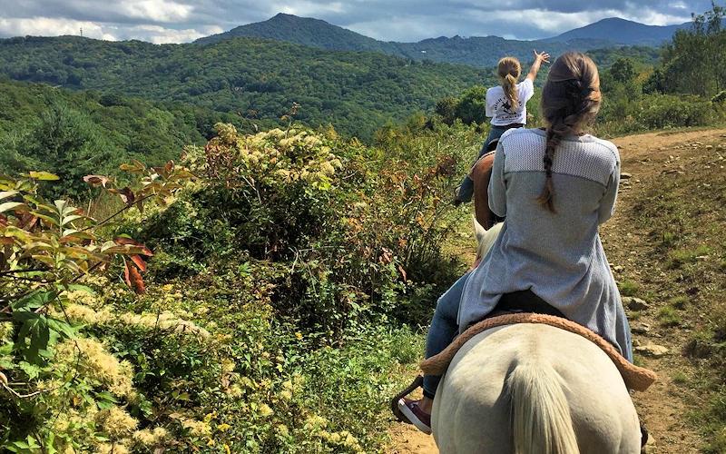 Horseback Riding Trips Banner Elk Stables