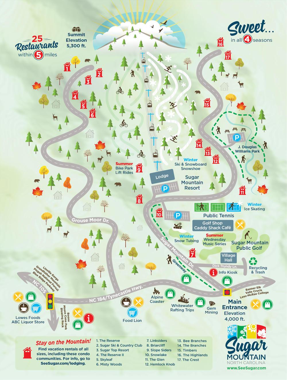 Sugar Mountain Illustrated Map