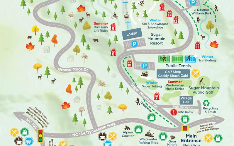 Sugar Mountain Map Section