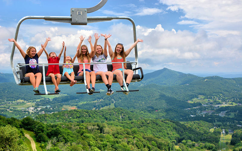 Scenic Chairlift Ride at Sugar Mountain NC