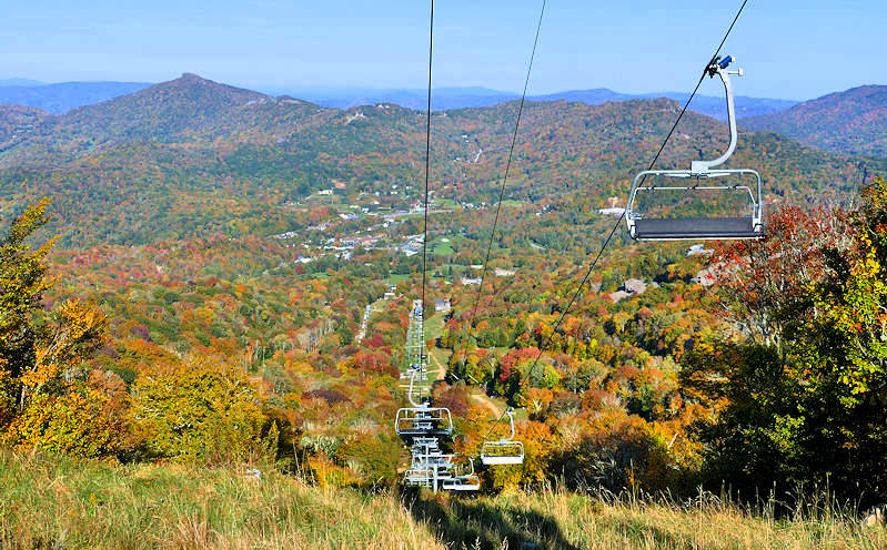 Sugar Mountain Fall Lift Rides